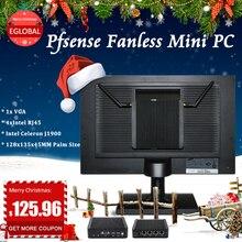 Pfsense mini PC intel Celeron J1900 VGA Watch Dog брандмауэр промышленный безвентиляторный мини-ПК 4 * RJ45 1000 Мбит/с multi LAN