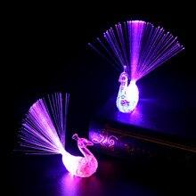 Children's Light-emitting Toys Ring Finger Led Lamp Colorful Peacock Shape Finger Light-emitting Children's LED Funny light toys