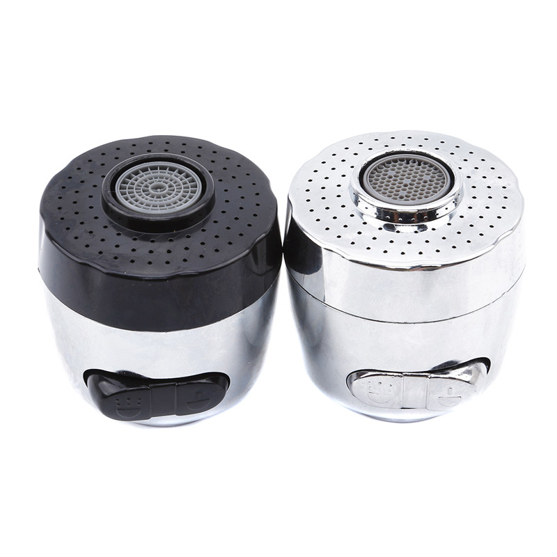 1pcs Two Modes Silver Black Electroplate Faucet Nozzle Aerator Bubbler Sprayer Water-saving Tap Filter