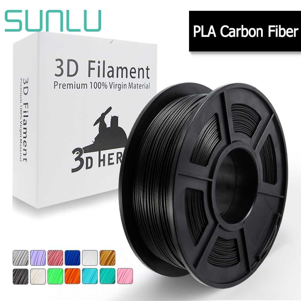 Filament en Fiber de carbone SUNLU PLA pour imprimante 3D Texture métallique similaire 1KG avec bobine 1.75mm fournitures de Sublimation