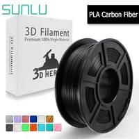 SUNLU PLA Carbon Fiber Filament For 3D Printer Similar Metal Texture 1KG With Spool 1.75mm Sublimation Supplies