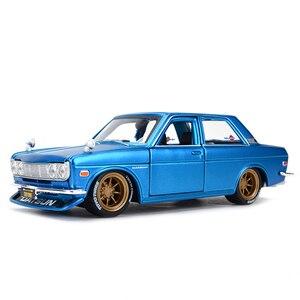 Image 1 - Maisto 1:24 Nissan 1971 Datsun 510 samochód sportowy statyczny odlew pojazdów Model kolekcjonerski samochody zabawkowe