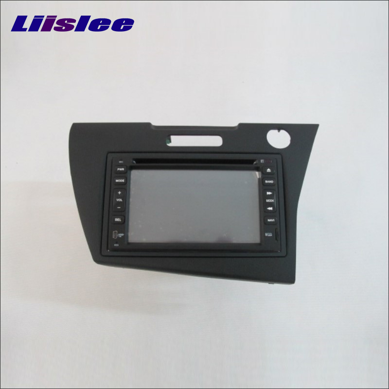 Liislee For <font><b>Honda</b></font> CR-Z <font><b>CRZ</b></font> Right Hand Drive 2012~2014 Radio DVD Player <font><b>GPS</b></font> Navi Navigation System Double Din Installation Set image
