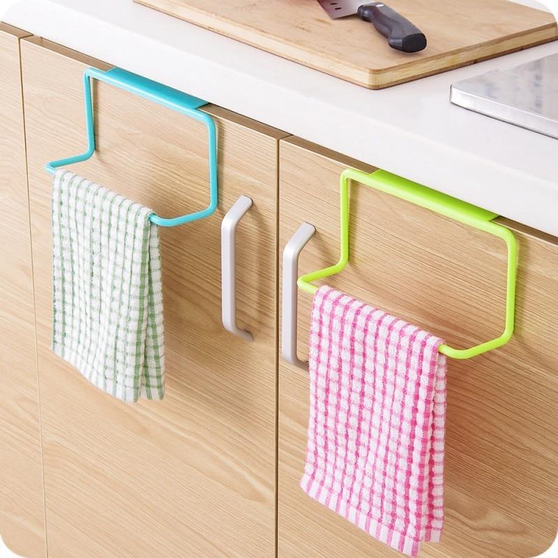 1 шт. Кухня полотенце вешалка универсальный подвесной держатель шкаф шкаф дверь вешалка полотенце губка держатель хранение вешалка для ванной комнаты