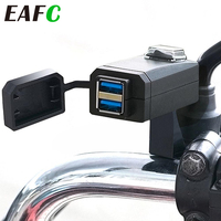 EAFC-cargador USB QC3.0 para motocicleta, adaptador de fuente de alimentación de 3,0, 12V, carga Universal para teléfono