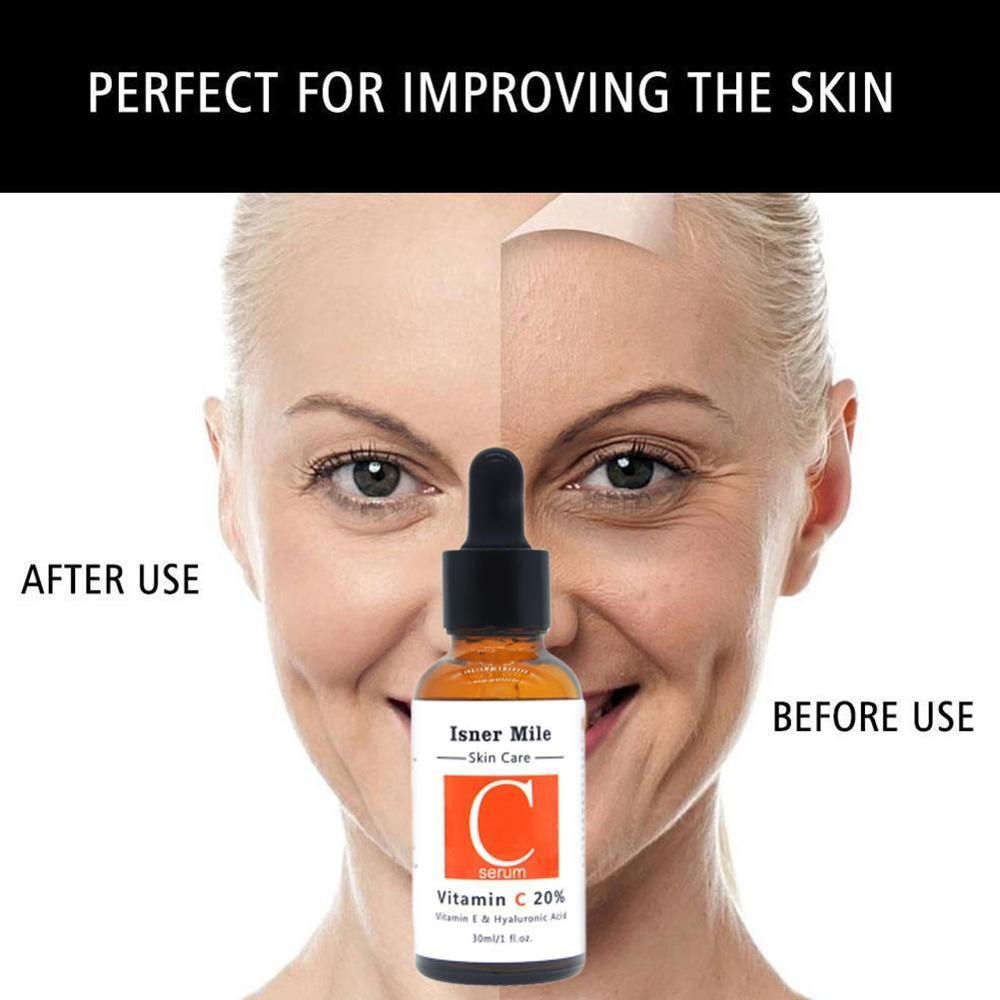 NEW Vitamin C 20% Serum Hyaluronic Acid Retinol Isner Mile 30ml V 2.5% Face Serum Anti Wrinkle Whitening Moisturizing Skin Care