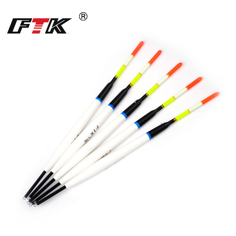 FTK 5pcs/pack 1/2/3g Barguzinsky Fir Float Length 17cm-20.5cm Fishing Float Vertical Buoy Float FishingTackle For Carp Fishing(China)