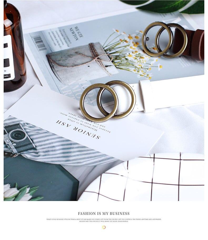 Мягкая искусственная кожа, двойное кольцо, пряжка, Ретро стиль, декоративный, Повседневный, подтягивающий, подходит ко всему, легкий, длинный, женский ремень с твердыми отверстиями