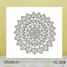 ZhuoAng Flowers and Leaves Background Clear Stamps For DIY Scrapbooking/Card Making/Album Decorative Silicon Stamp Crafts