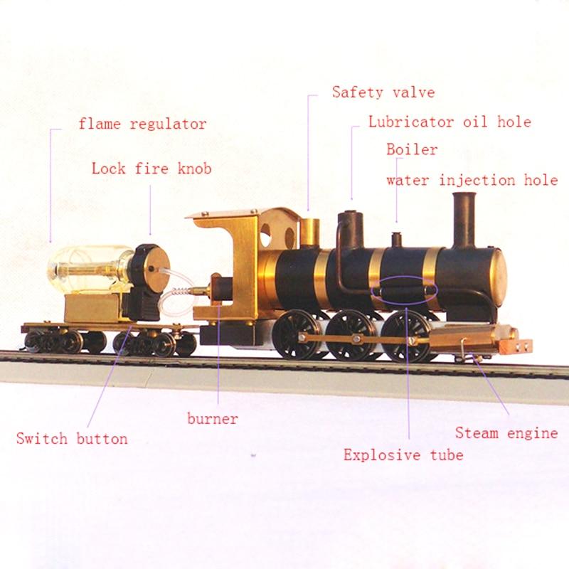 Image 5 - Steam Train Model Steam Locomotive Model Steam Drive HO Proportion Live Steam EngineModel Building Kits   -