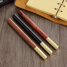 3 adet/grup ahşap pirinç tükenmez kalemler 0.5mm mürekkep tükenmez kalem yazma için toptan 2026