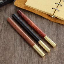 3 pcs/lot wood with brass ball roller pens 0.5mm ink ballpoint pen for writing wholesale 2026