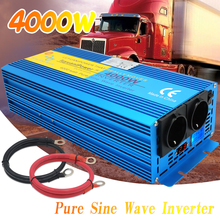 Inverter Pure sine wave 4000W Peak DC 12V/24V To AC 220V off grid CAMPING BOAT Converter inverter With LCD Display 2 AC OUT car