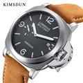 KIMSDUN мужские часы лучший бренд класса люкс автоматические механические часы мужские модные дизайнерские Водонепроницаемые кожаные часы ро...