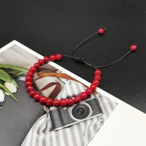 Image 4 - 6mm New Natural Beads Bracelets Men Black Ethinc Meditation White Bracelet Women Prayer Jewelry Yoga Bracelet Homme