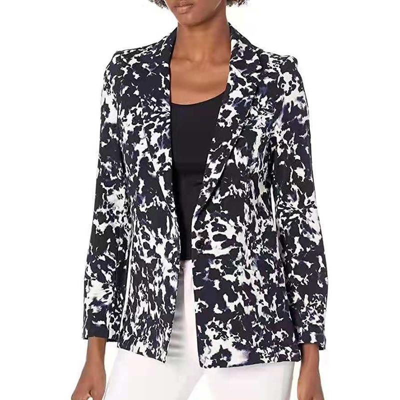 H12fcf02a9dfd4f2ca3d0dc185a5d7acbX Fashion Trend Women Lapel Leopard Print Long Sleeves Suit Jacket Elegant Fall Winter Office Lady Cardigan Coat Casual Streetwear
