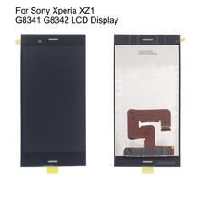 Sony Xperia için XZ1 G8341 G8342 dokunmatik LCD ekran ekran sensörü telefonu aksesuarları ücretsiz kargo ve hediye araçları