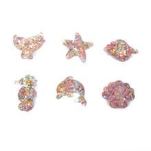 10Pcs Shell Starfish Dolphin Ocean Sequin Resin Kawaii Accessories Scrapbooking Cabochon Flatback Decoration Craft Embellishment