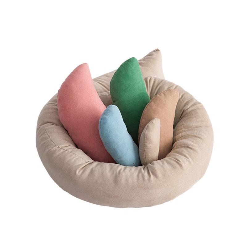 6 PCS/Set Newborn Photo Shoot Wheat Donut Posing Props Baby Pillows Ring Baby Photography Props Basket Filler Fotografia