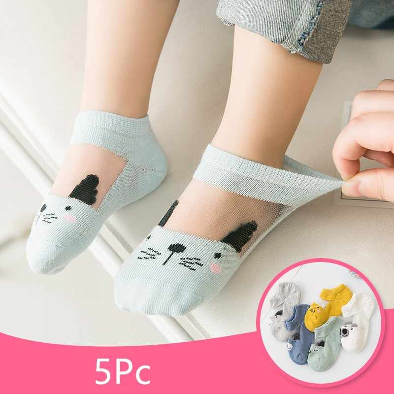 6 Pairs//Pack Baby Toddlers Cotton Non Slip Dispensing Boat Socks White 0-6 Years