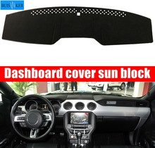 Dashboard Mat Cover Dashmat Pad Sun Shade Instrument Protect Carpet Car Styling Accessories For Ford Mustang 2015 2016 2017 2018