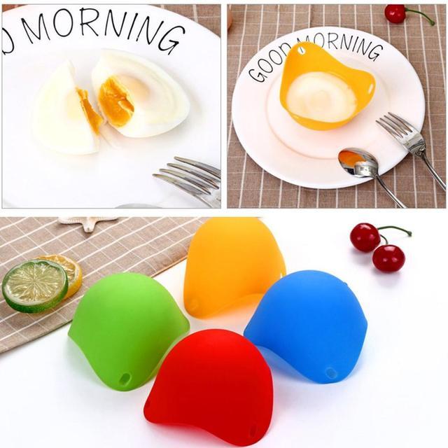 1 sztuk 4 sztuk jajo silikonowe kłusownictwo strąki jajko formy miska odporna na wysokie temperatury jajko parowiec kuchnia akcesoria do gotowania