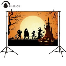 Allenjoy Horror Night Photozone Moon Witch Castle Pumpkins Cat Halloween Party Supplies Nightmare Before Christmas Backdrops nightmare nightmare one night of insurrection cd dvd