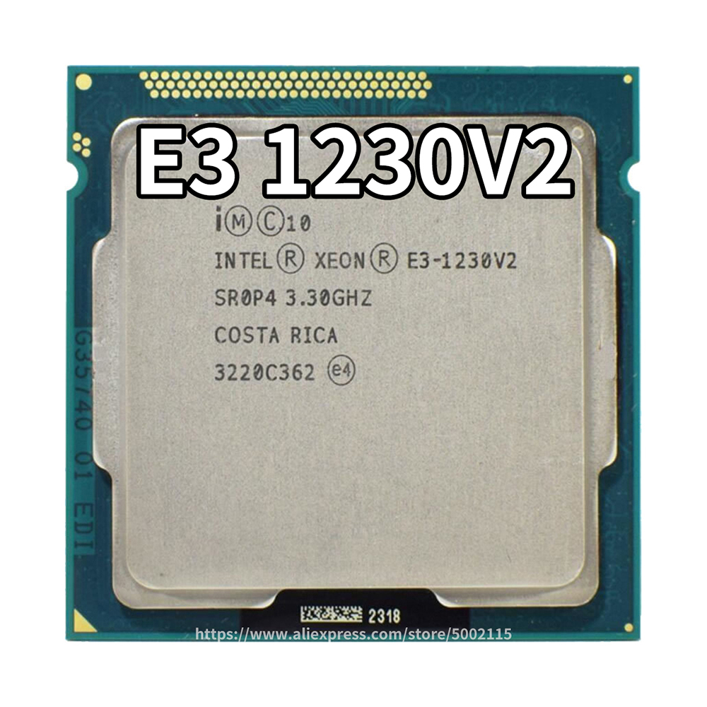 Intel Xeon Processor <font><b>E3</b></font>-<font><b>1230</b></font> <font><b>v2</b></font> 8M Cache, 3.30 GHz Quad-Core Processor LGA1155 Desktop CPU <font><b>E3</b></font>-<font><b>1230</b></font> <font><b>V2</b></font> image