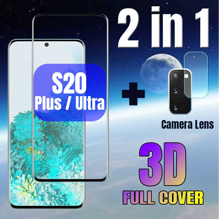 Vidro temperado & lente da câmera de vidro protetor para samsung galaxy s20 s20 + plus ultra secreen protector capa s 20 mais 2in1