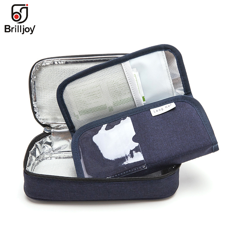 Brilljoy refrigerado portátil saco de gelo saco