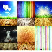 Vinyl Custom Photography Backdrops Prop Colorful Wooden Planks Theme Photo Studio Background CS20319-28 shengyongbao art cloth digital printed photography backdrops wood planks theme prop photo studio background jut 1631