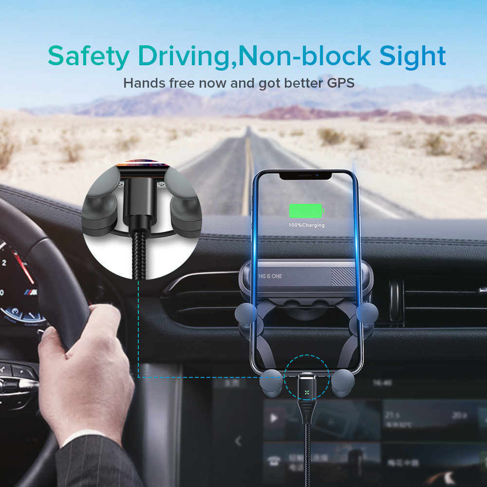 Gravity Car Holder For Phone In Car Air Vent Clip Mount No Magnetic Mobile Phone Holder GPS Stand For IPhone XS 11PROMAX Xiaomi