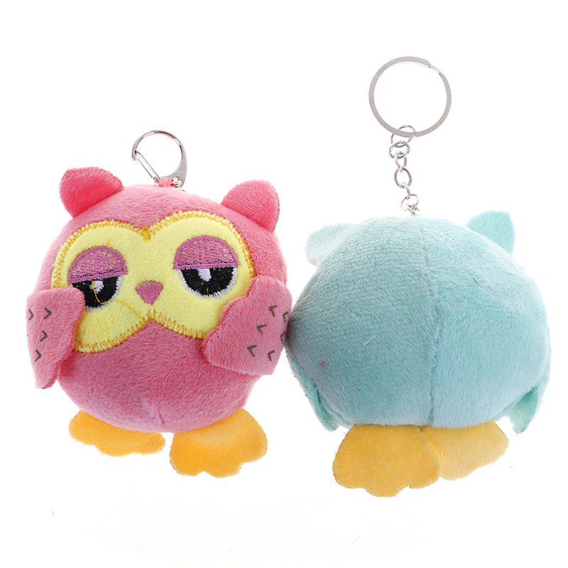 1pcs Super Cute Small Owls Stuffed Plush Toy , key chain Gift Toy - baby toys , party Gift Plush Toy 9CM