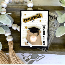 Bear Graduation Rubber Stamps and Metal Cutting Dies Scrapbooking Bachelor Cap Craft Stencil Card Make Album Sheet Decoration printio 4 сезона в тюрьме