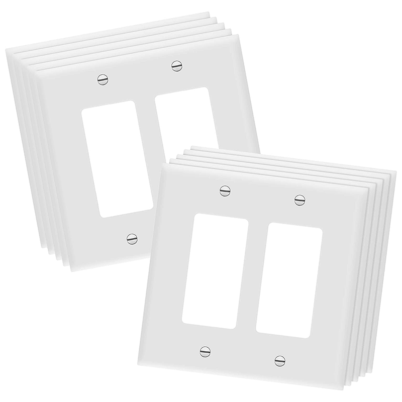 10 Pcs Decorator Light Switch or Socket Outlet Wall Panel Polycarbonate Thermoplastic