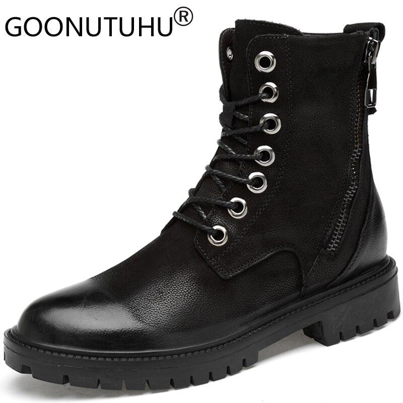 2019 hiver hommes bottes tactiques militaires chaussures décontractées homme en cuir véritable botte travail chaussure bois terre neige combat bottes pour hommes
