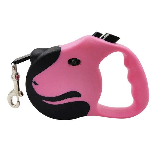 3M/5M Automatic Color matching Pet Dog Leash Flexible Dog Puppy Traction Rope Belt Retractable Dog Walk Leash