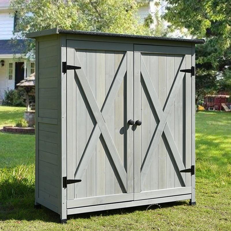 gabinetes de madera para almacenamiento al aire libre herramientas cajas de guantes en su mayoria a prueba de lluvia madera maciza jardin