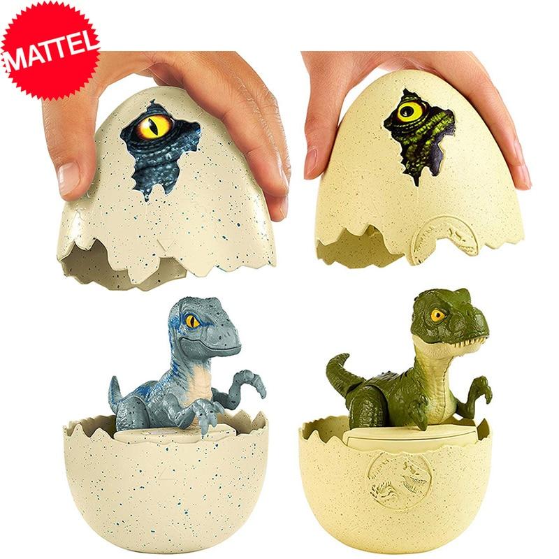 Original Jurassic World Dinosaur Baby Egg Shell Hatchery Series Dinosaur Model Dragon Action Figure Toys for Children Juguetes