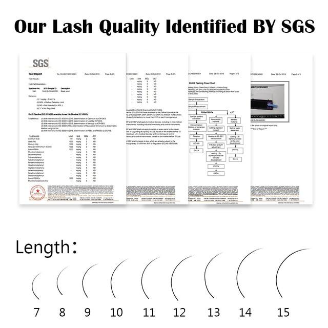 NAGARAKU Eyelashes Makeup Maquiagem 6 Cases lot 16 Rows tray Individual Eyelash False Eyelash Natural Soft Lashes Cilios 6