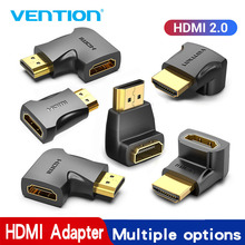 Converter Adapter Hdmi-Cable Right-Angle Female 90-Degree Vention for PS4 HDTV 4K 270
