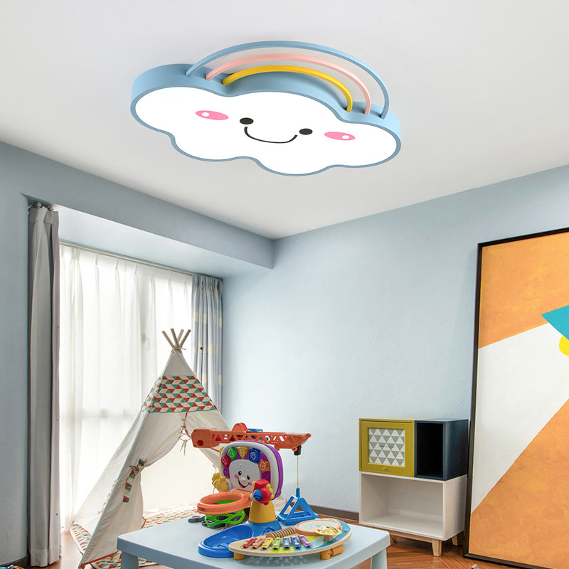 Modern Cartoon Rainbow Cloud Baby Girl Children Kids Room Ceiling Light Led Ceiling Lamp Lights For Bedroom Nursery Roof Lamp Aliexpress