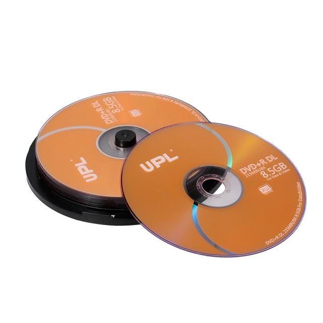 Disco de DVD + R DL para grabación de datos y vídeo, 8,5 GB, 215MIN, 8X, 10 Uds./lote, venta al por mayor