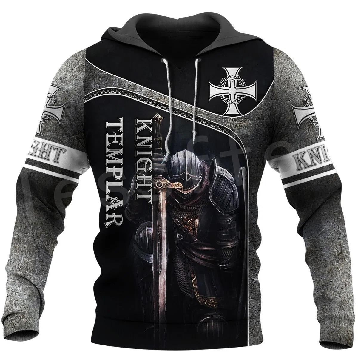 Tessffel Knight Templar Costume Armor Pullover NewFashion Harajuku Streetwear 3DPrint Unisex Zipper/Hoodies/Sweatshirt/Jacket 22