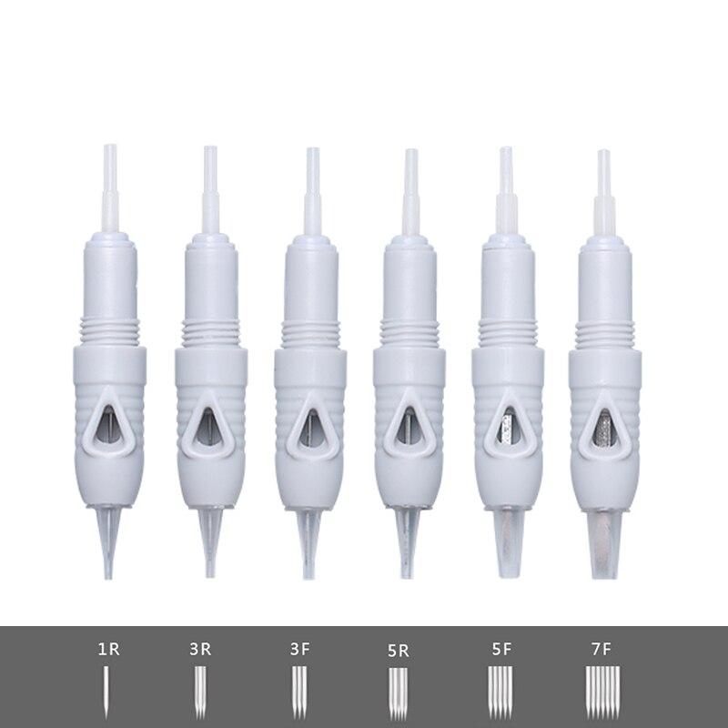 Charmant Liberty Permanent Needles 100pcs Microblading Eyebrow Lip Face Princesse Grey Tattoo Machine Needle 1R 3R 3F 5R 5F 7F