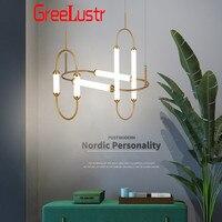 Скандинавские креативные стеклянные трубки светодиодные подвесные лампы современные золотые светодиодные Люстра для спальни гостиной Ев