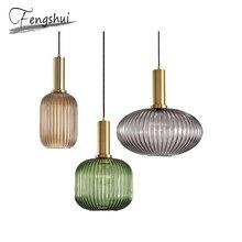 Modern Iron Glass Pendant Lights Lamp Nordic Home Decoration Pending Lighting Living Room Bedroom Loft Dining Hanging