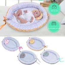 Новорожденная детская кроватка переносная люлька ворс кроватка противоскользящая колыбель с подушкой необходимые бытовые Детские принадлежности для отдыха