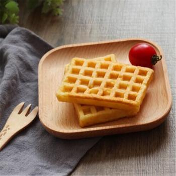 Kawa taca herbaciana chleb jedzenie deser talerz śniadaniowy z litego drewna Pan płyta potraw z owoców spodek deser płytki talerz okrągły kwadrat tanie i dobre opinie CN (pochodzenie) ROUND Stałe Wood