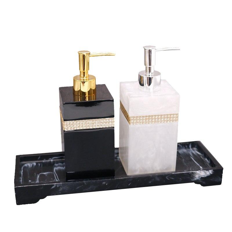 400ml, 500ml, 800ml Resin European Shower Gel Soap Dispenser Lotion Bottle Hand Sanitizer Shampoo Moisture Press Bottle
